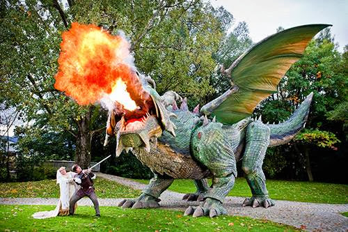 World's largest walking robot is a fire-breathing dragon ... of course