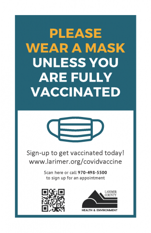 please wear facemaks unless fully vaccinated