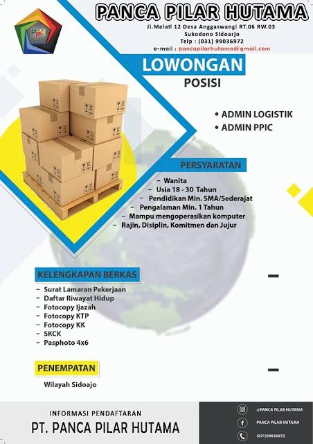 lowongan kerja Admin Panca Pilar Hutama Surabaya