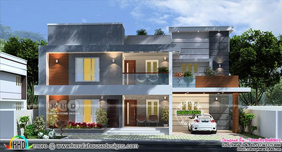 Woody Grey House Architecture