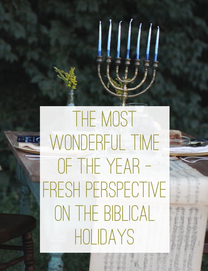 Fresh Perspective on the Biblical Holidays and whether or not it's legalistic to observe them | Land of Honey