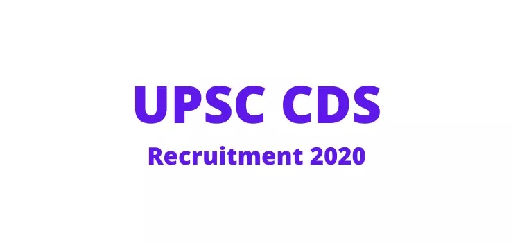UPSC CDS (I ) Recruitment 2021 Apply Online