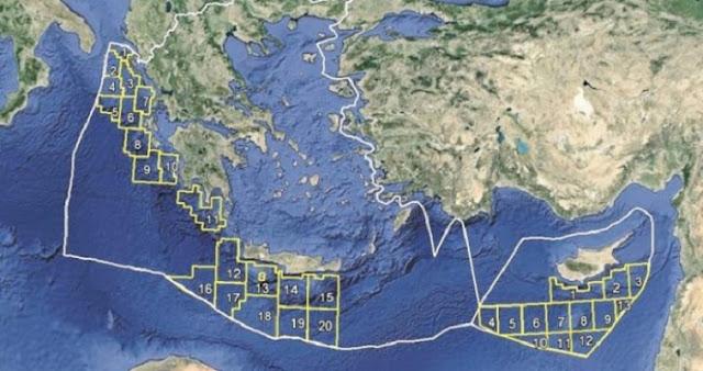 Η Τουρκία παραχωρεί θαλάσσια οικόπεδα σε Κρήτη, Καστελόριζο
