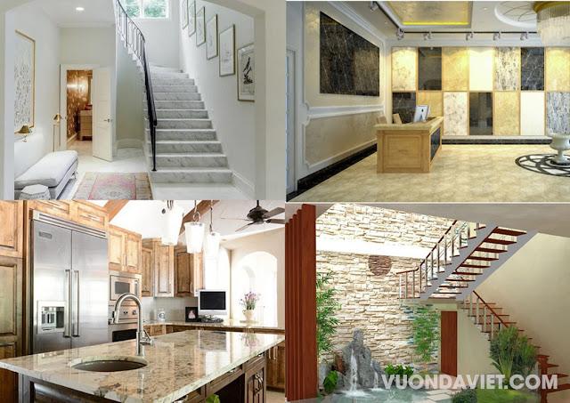 Ứng dụng đá tự nhiên, đá ốp tường trang trí trong kiến trúc