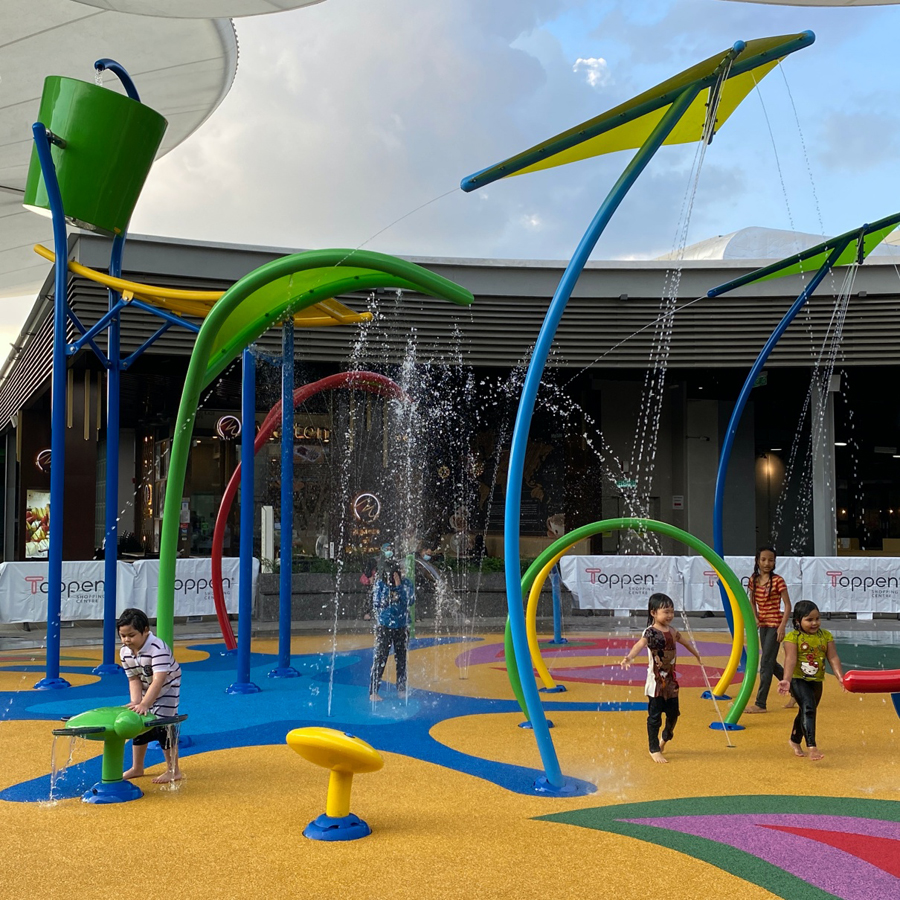 The community offerings at The Topp such as rock-climbing wall, skate park and water park have recently reopened to the public.