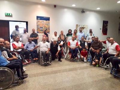 فريق السلة على الكراسي المتحركة يشارك في البطولة الدولية بالجمهورية اللبنانية