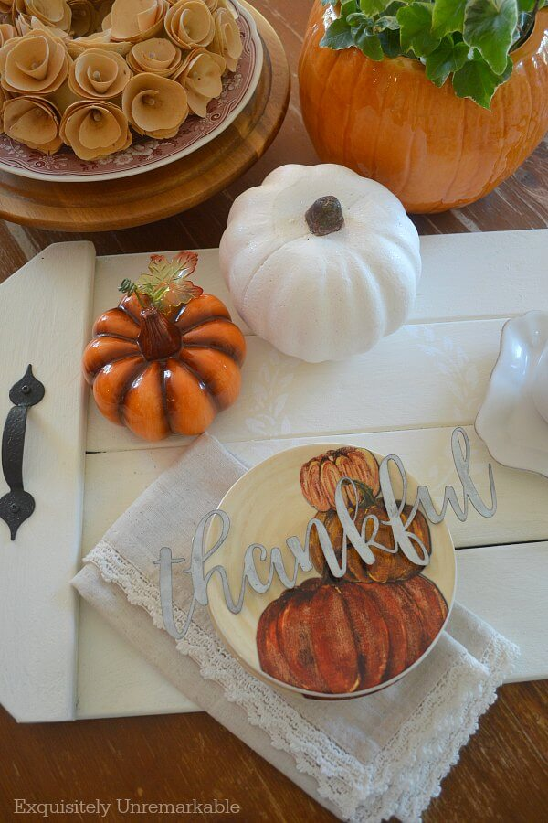 Fall Tray Decor