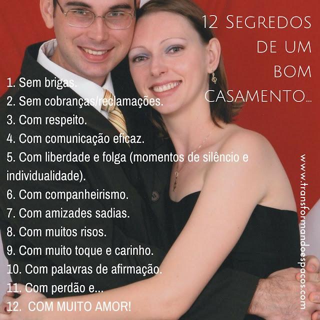12 Segredos de um bom casamento...