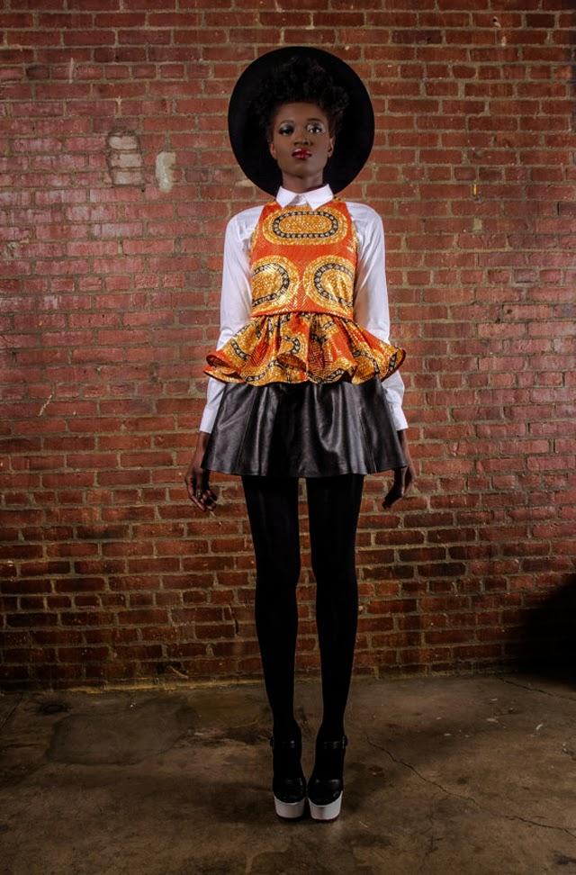 African print-peplum-top