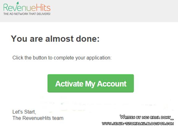 Cara Daftar RevenueHits dan Pasang Iklan RevenueHits di Blog Terbaru