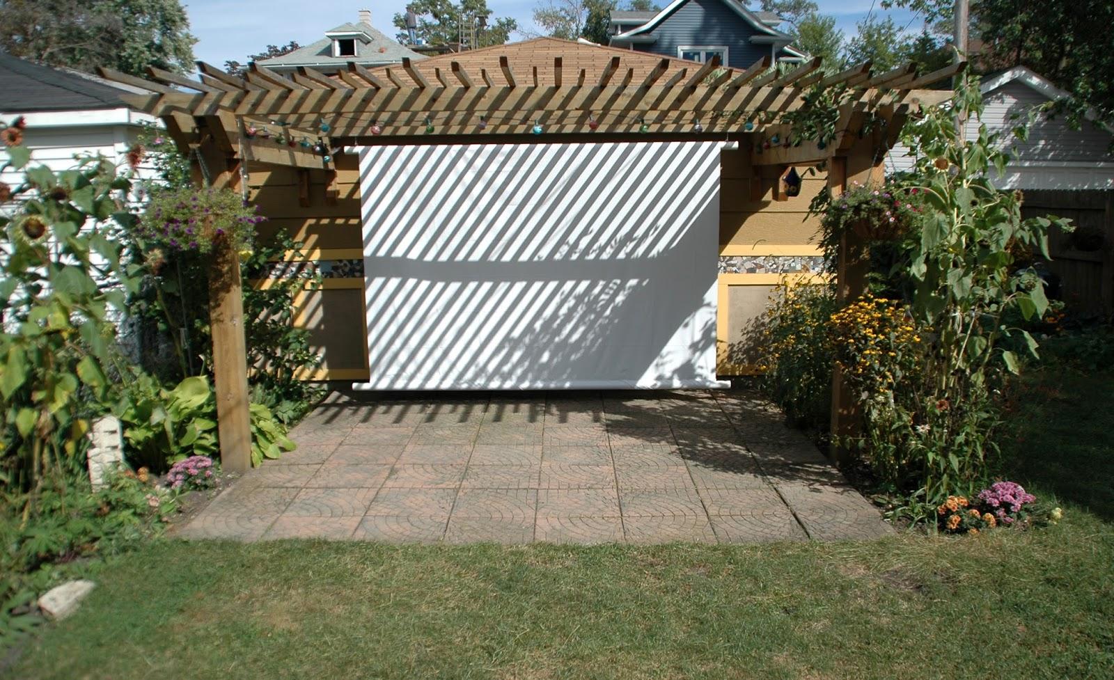 our tiny oak park bungalow diy outdoor movie screen