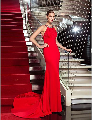 vestidos de graduacion rojos con brillos