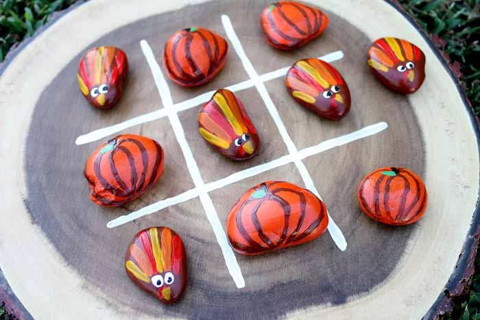 Thanksgiving game ideas using painted rocks