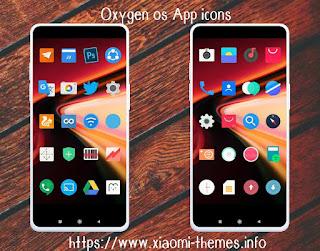 Oxygen OS(Oneplus) App icons download for Mi theme