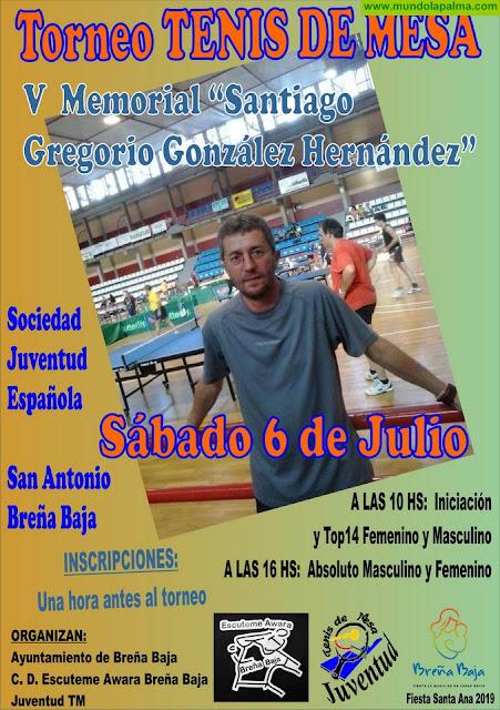 """TENIS DE MESA: V Memorial """"Santiago Gregorio González Hernández"""""""