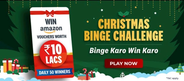 VI Christmas Binge Challenge: Watch Movies/Content & Win Amazon Gift Vouchers