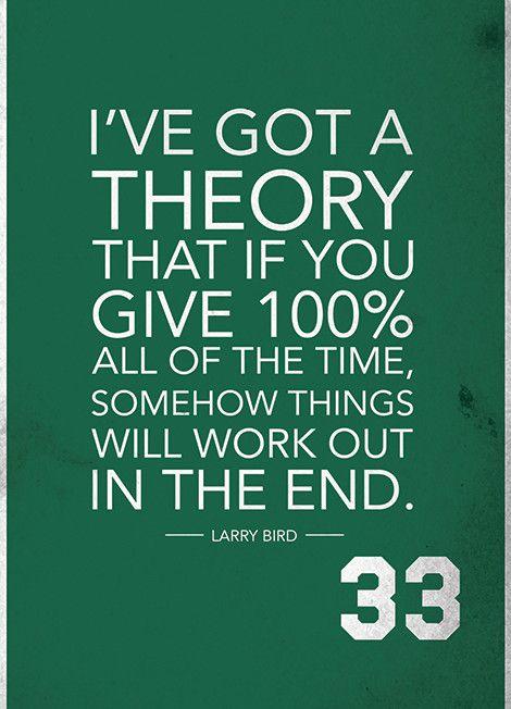 Motivational Quote | Larry Bird | Boston Celtics