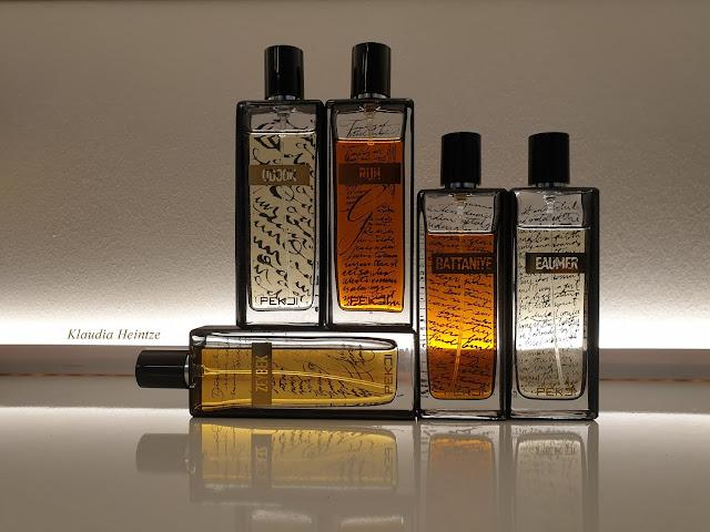 Flakony perfum marki Pekji