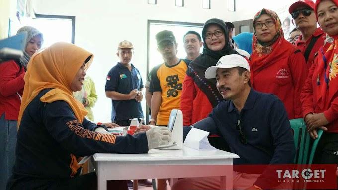 Bupati Haryanto Hadiri Senam Waton Obah Dalam Rangka Sedekah Bumi Desa Jontro