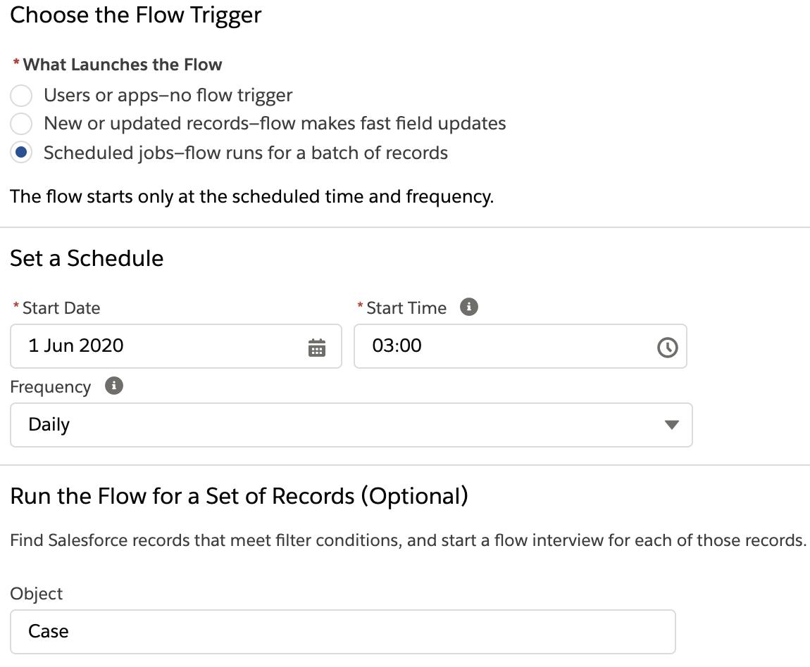 Schedule Flows in Salesforce