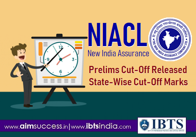 NIACL Assistant Prelims Cut Off 2018 Out Check Category & State-wise Cutoff