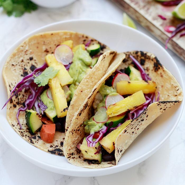 Grilled Veggie Tacos with Avocado Cream | Yummy Mummy ...