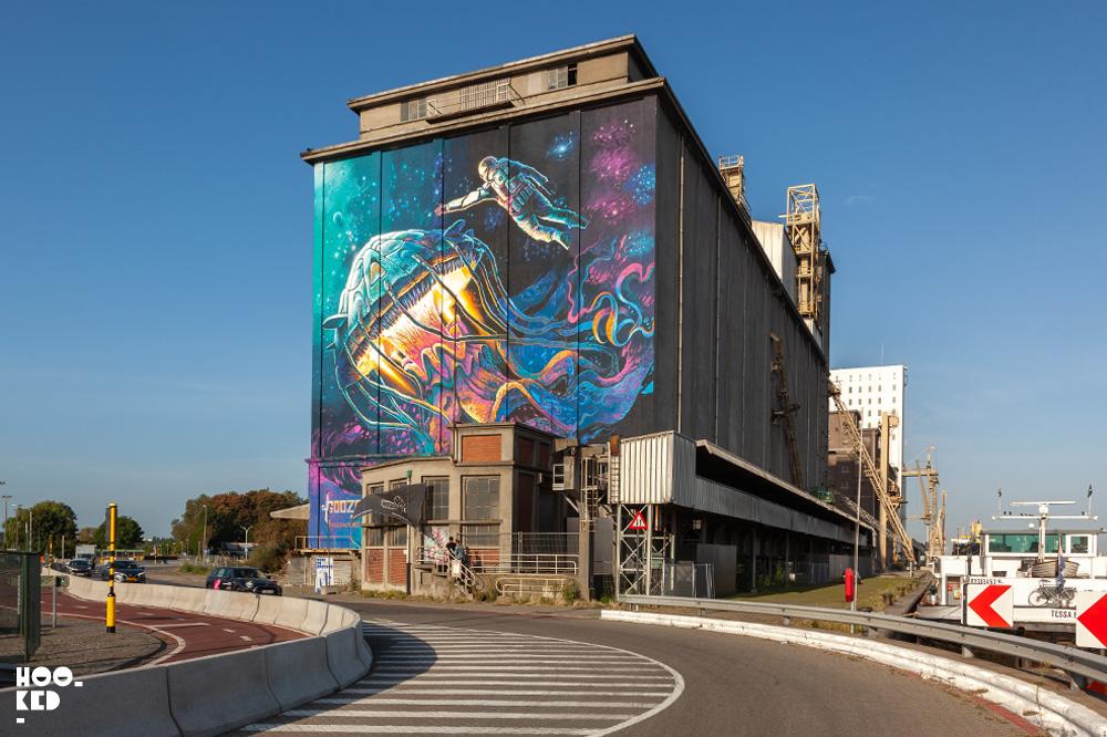 Impressive 3D Street Art Murals in Antwerp for Tizarte 3D Street Art Festival