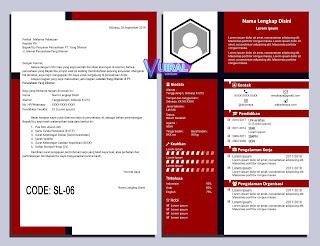 Contoh Desain CV Dan Job App Kreatif SL-06