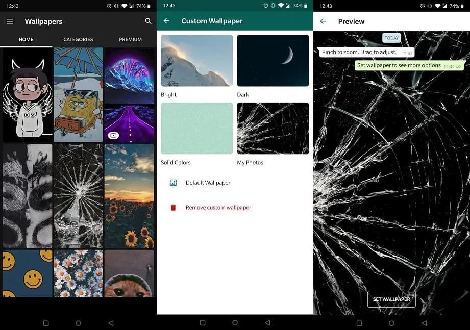 تعزيز تجربة Whatsapp Zedge