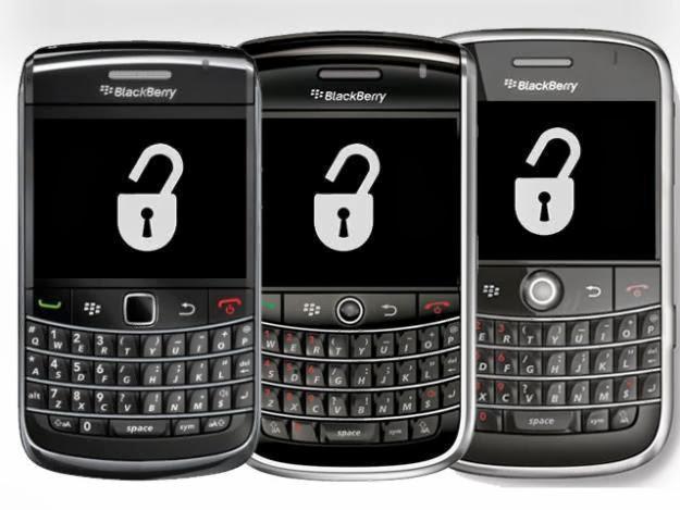 Blackberry con un candado de liberar