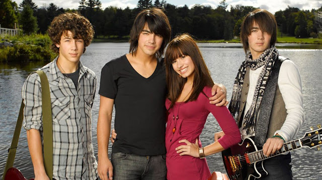 Jonas Brothers and Demi Lovato in Camp Rock