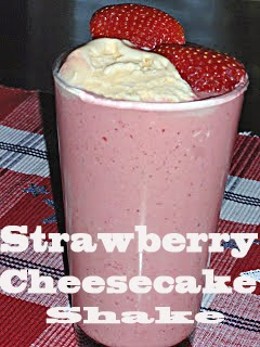 Strawberry Cheesecake Shake #Valentines Day