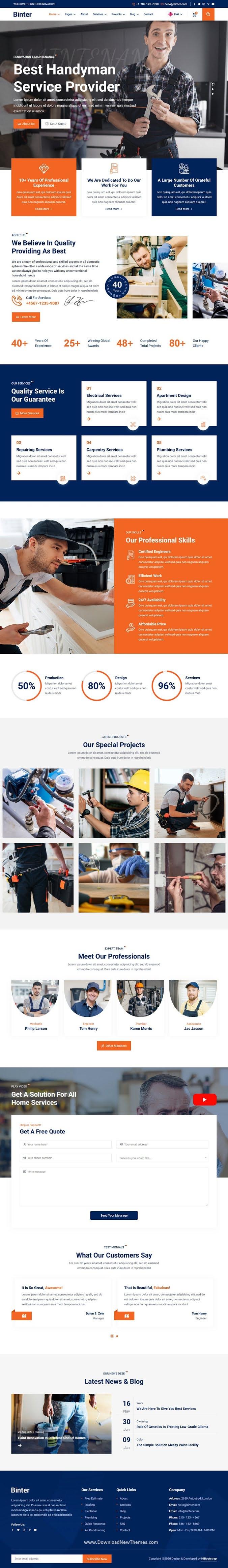 Renovation & Building Company HTML Template