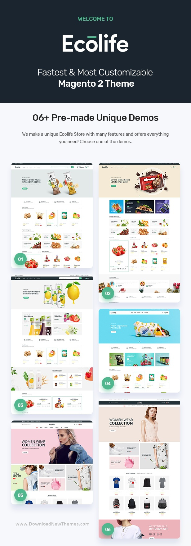 Organic, Food, Cosmetic and Multipurpose Magento Theme