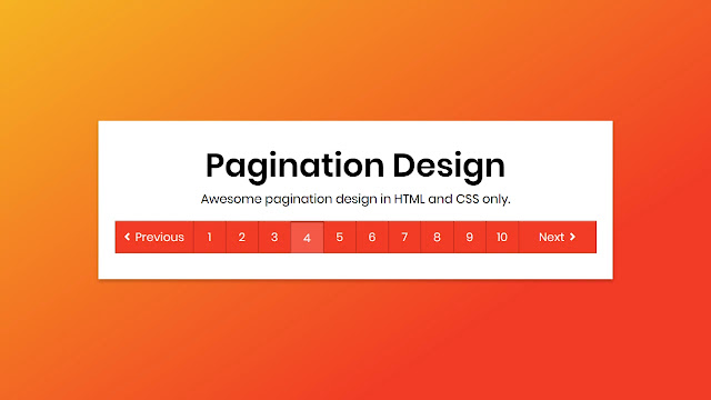 Awesome Pagination Design in HTML & CSS
