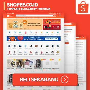 Shopee - Template Blogger Premium Terbaik