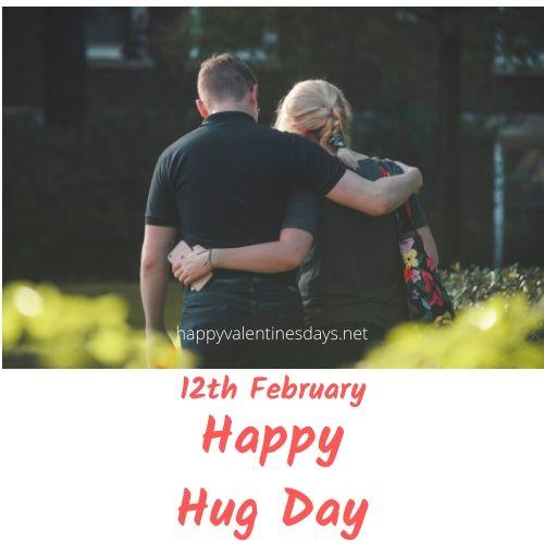 february special day : 12 feb happy hug day 2021