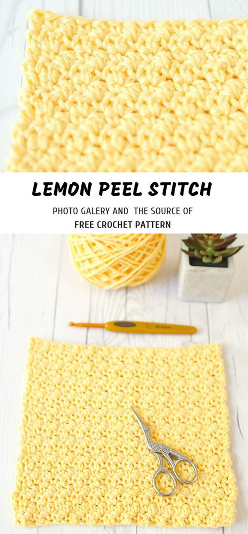Crochet Lemon Peel Stitch - Free Pattern & Tutorial
