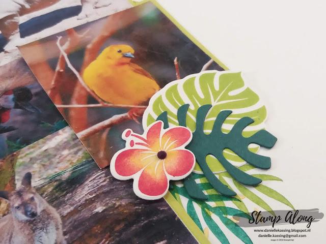 Stampin'Up! Tropical Chic scrapbookpagina
