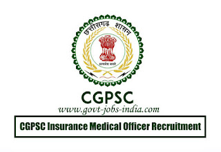 CGPSC Insurance Medical Officer Recruitment 2020