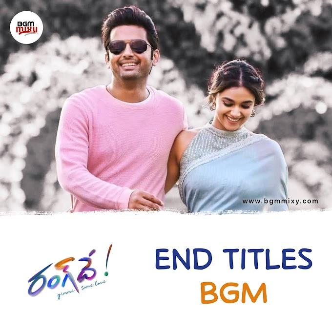 Rang De End Titles BGM Download HD - Rang De BGMs - BGM Mixy