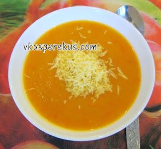 крем-суп из тыквы с яблоком