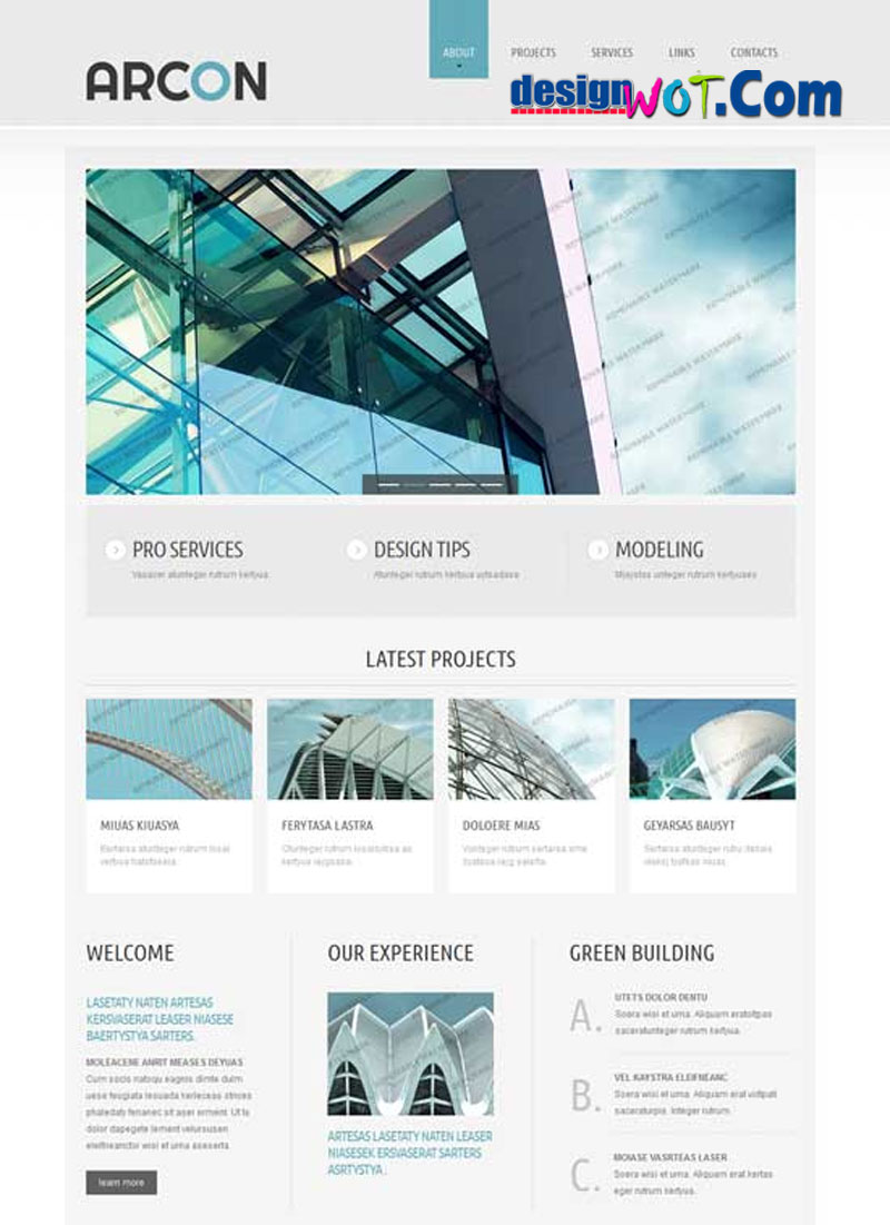 ARCON Architecture Responsive HTML WordPress Template