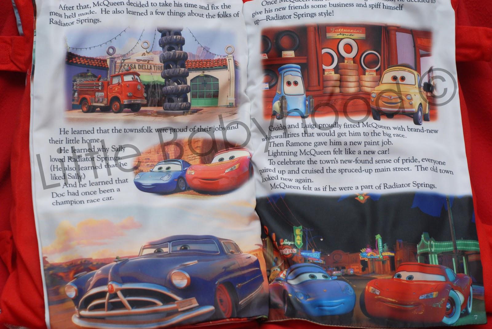 Little Babyhood Storybook Pillow Disney Pixar Cars