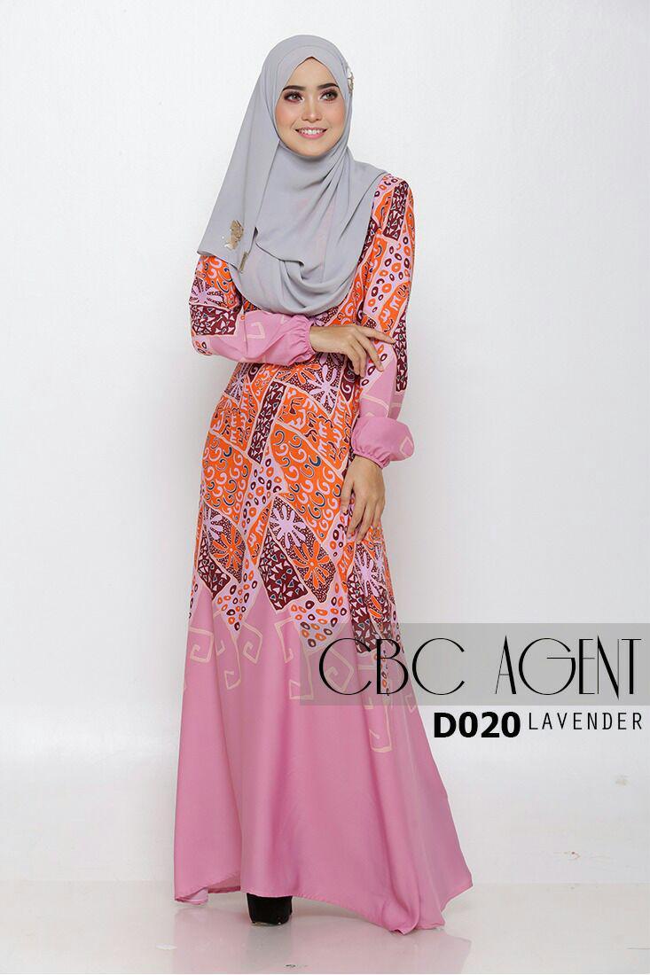Long Dress Batik Rok Panjang Terusan Kombinasi Dress Batik