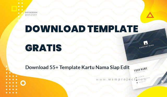 template kartu nama
