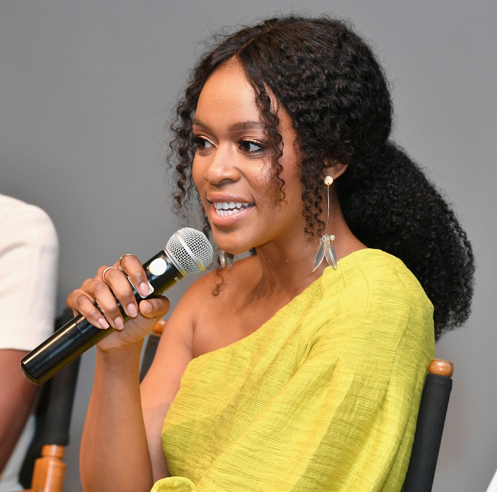 Nomzamo Mbatha speaks during the BET International: Global Good Presents: Madiba screening & panel discussion during the 2018 BET Experience on June 23, 2018 in Los Angeles, California. (Photo by Earl Gibson III/Getty Images for BET)