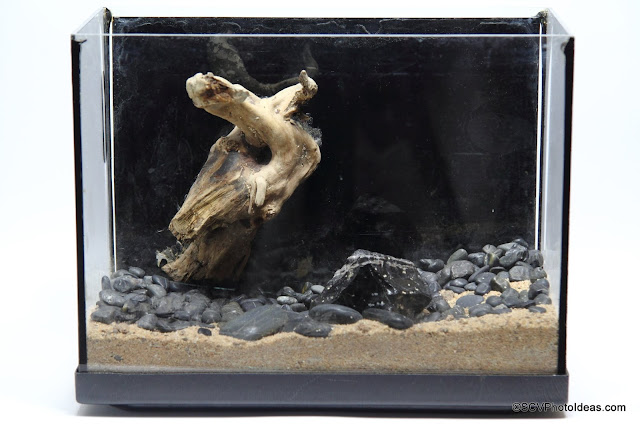 Pico 8 lt Aquarium hardscape front side view