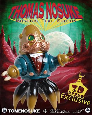 Designer Con 2019 Exclusive Thomas Nosuke Teal Edition Vinyl Figure by Doktor A x Tomenosuke x 3DRetro