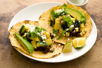 Summer squash, corn, and chorizo tacos | Homesick Texan